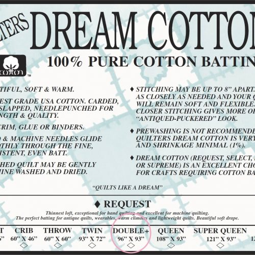 Quilters Dream Request Batting – Natural – Double