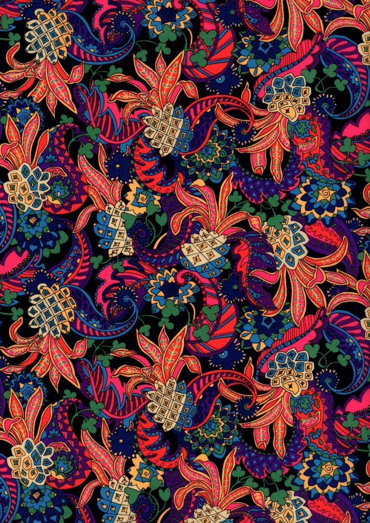 Pineapple Paisley B - Liberty Tana Lawn - SS21 Atlas of Dreams Collection