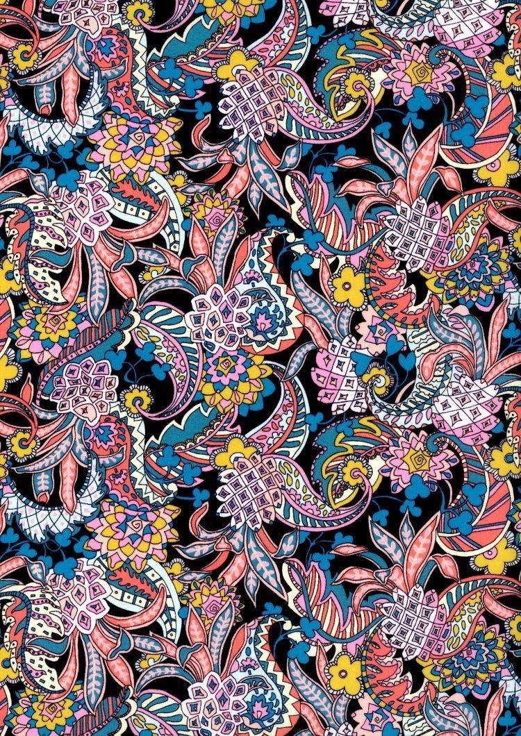 Pineapple Paisley C - Liberty Tana Lawn - SS21 Atlas of Dreams Collection