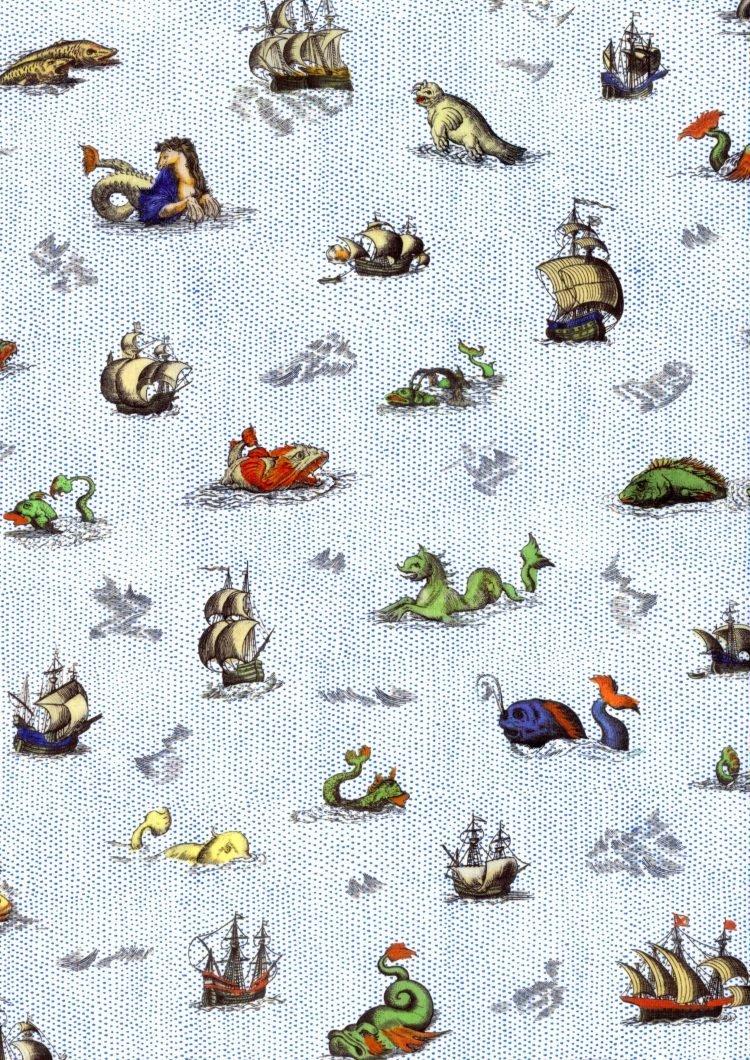 Sea Myths C - Liberty Tana Lawn - SS21 Atlas of Dreams Collection