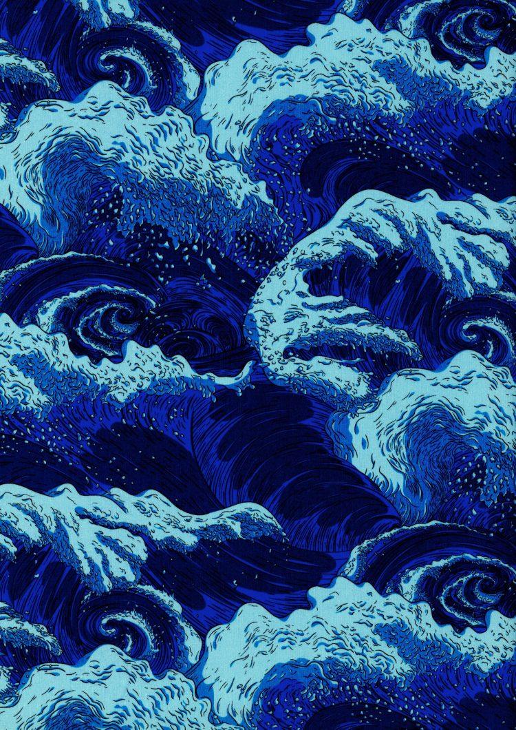 Vespertine Wave C - Liberty Tana Lawn - SS21 Atlas of Dreams Collection