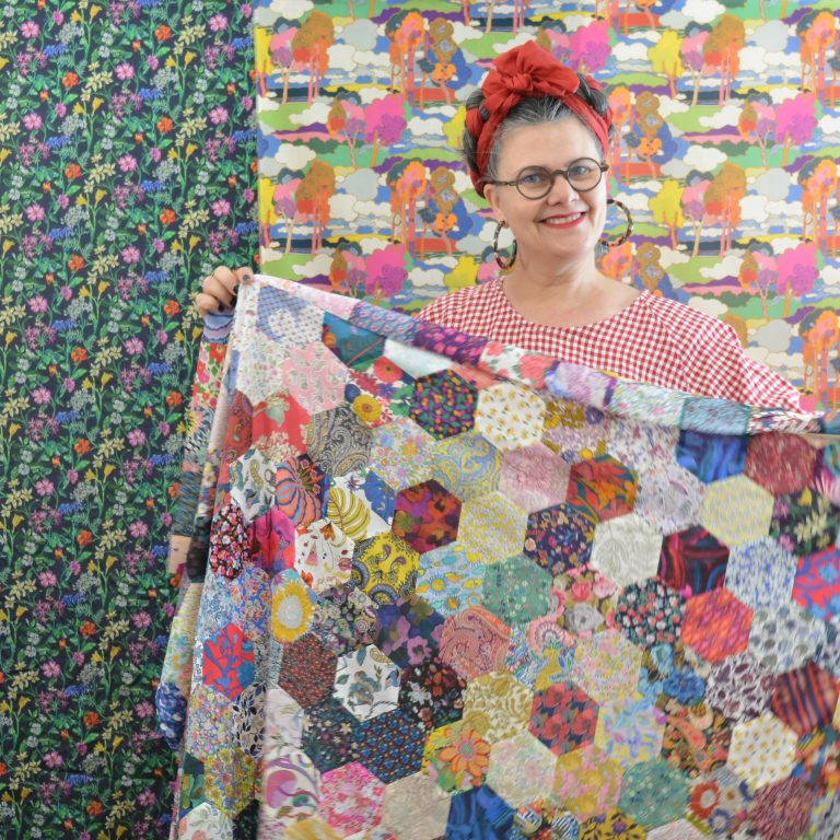Backing and batting for your hexie quilt
