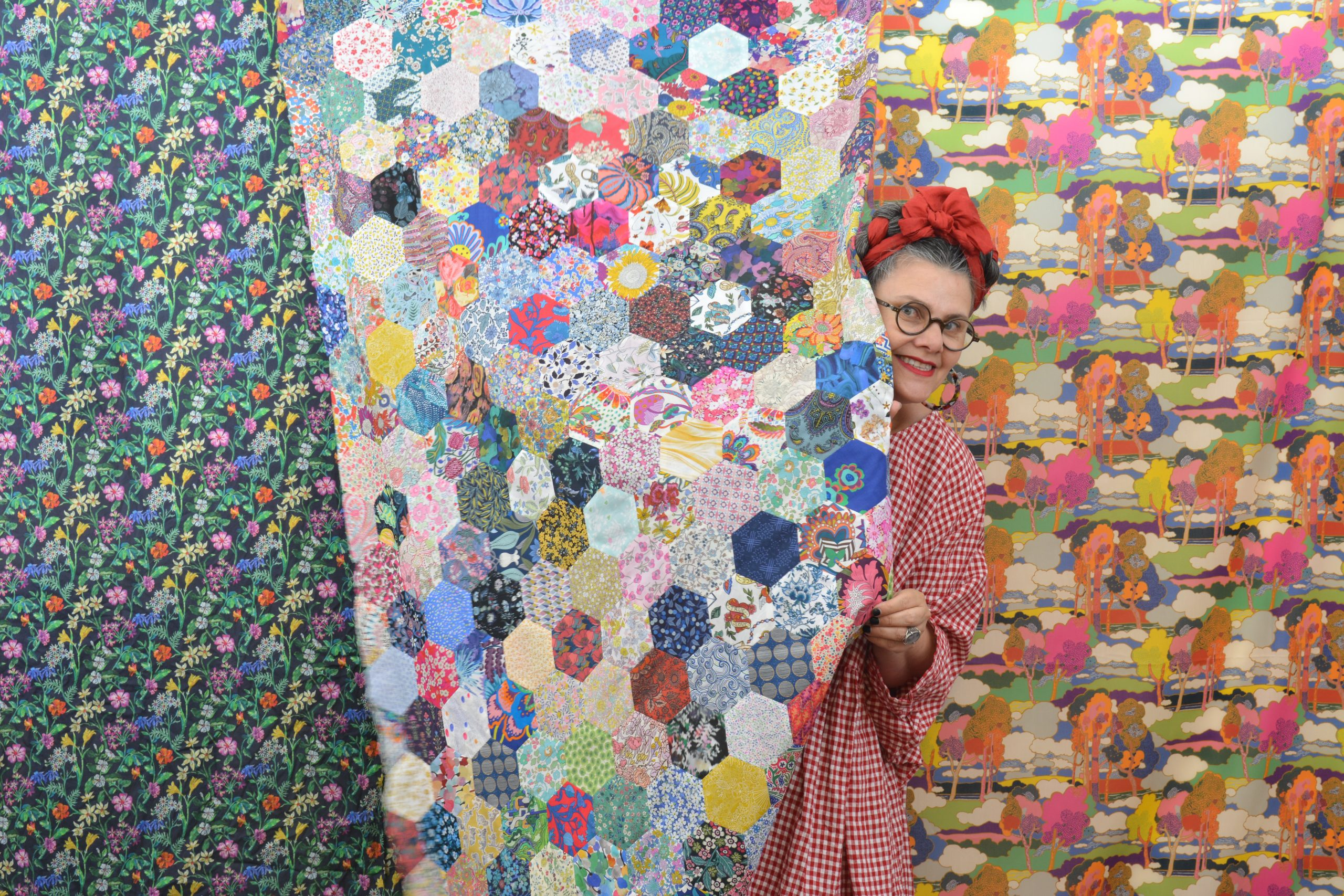 Finishing the edges of your hexie quilt top