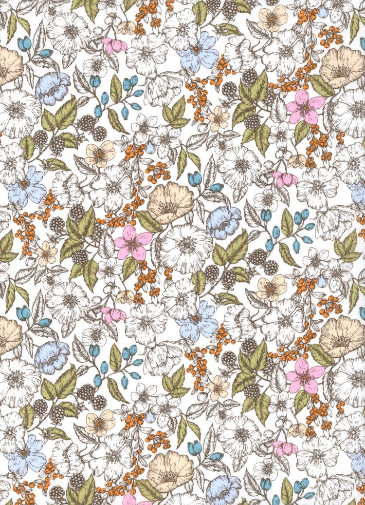 Bramble C - AW21 The New Collectables Collection - Liberty Fabrics Tana Lawn