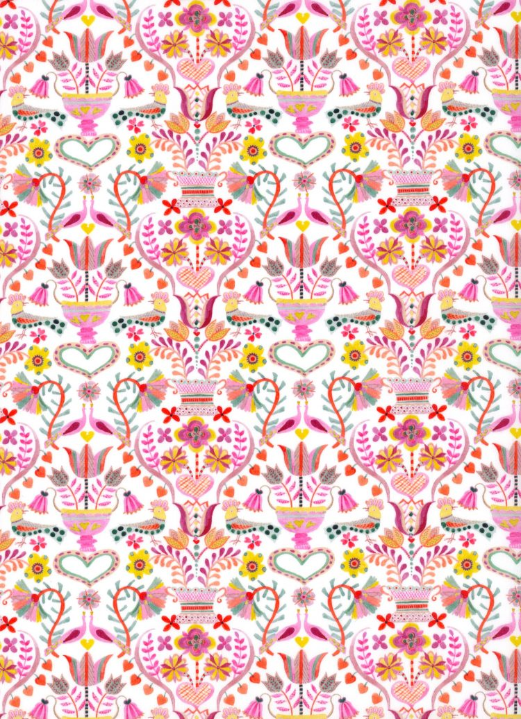 Love Birds A - AW21 The New Collectables Collection - Liberty Fabrics Tana Lawn