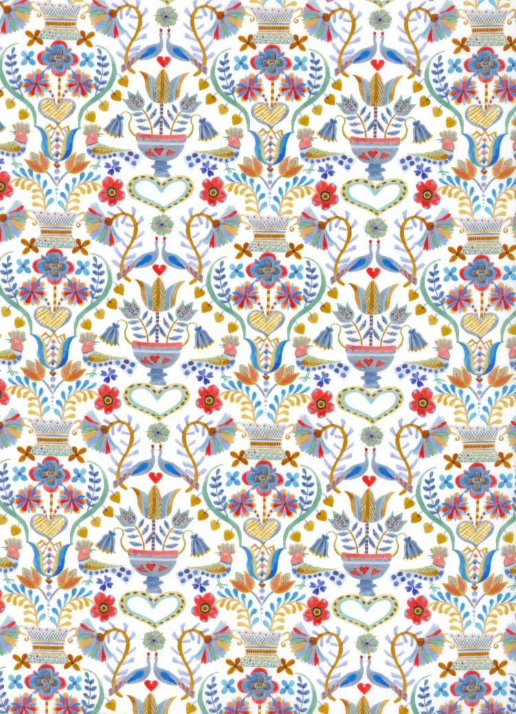 Love Birds C - AW21 The New Collectables Collection - Liberty Fabrics Tana Lawn