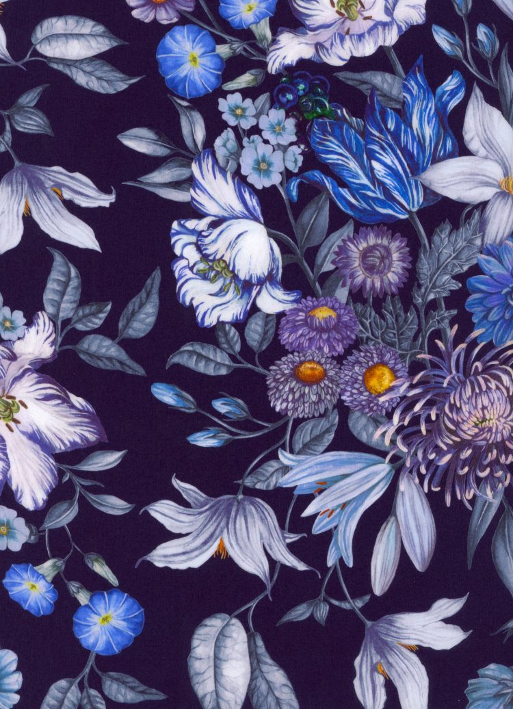 Stately Bouquet C - AW21 The New Collectables Collection - Liberty Fabrics Tana Lawn