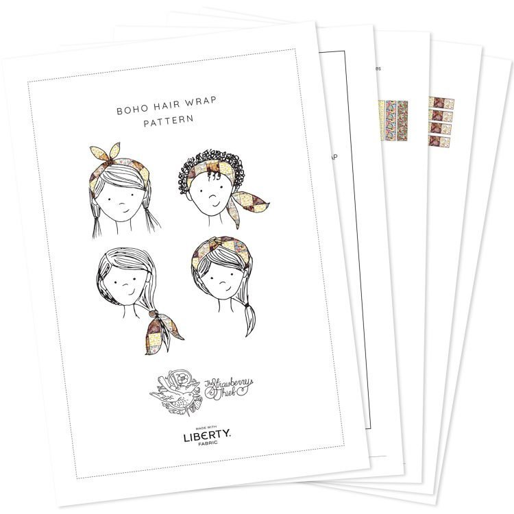 Boho hair wrap pattern step-by-step pdf