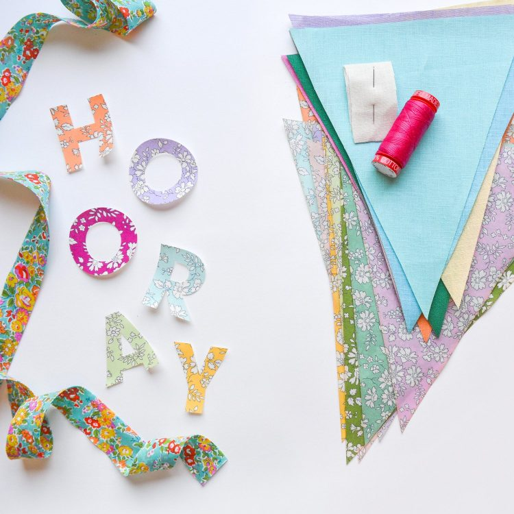 Liberty + Linen Bunting Kit by The Strawberry Thief