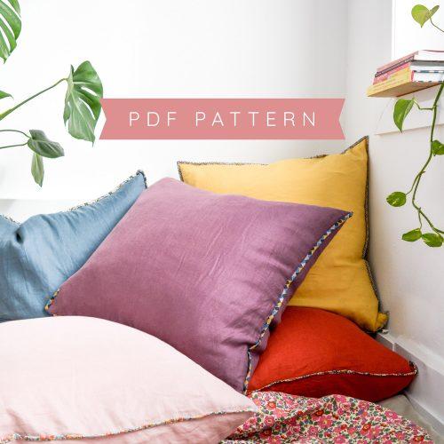 Linen + Liberty Floor Cushion Cover Pattern – PDF