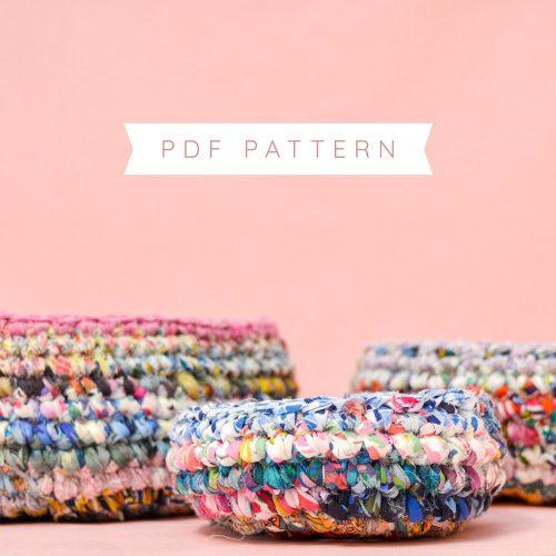 Liberty Crochet Bowls Pattern – PDF