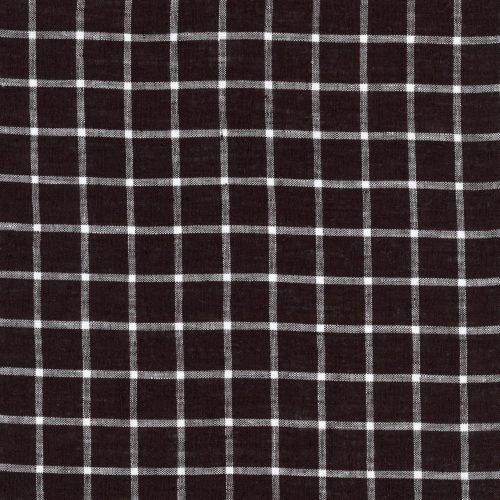 Linen – Black Grid