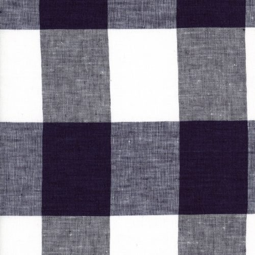 Linen – Ink Gingham – Extra Large