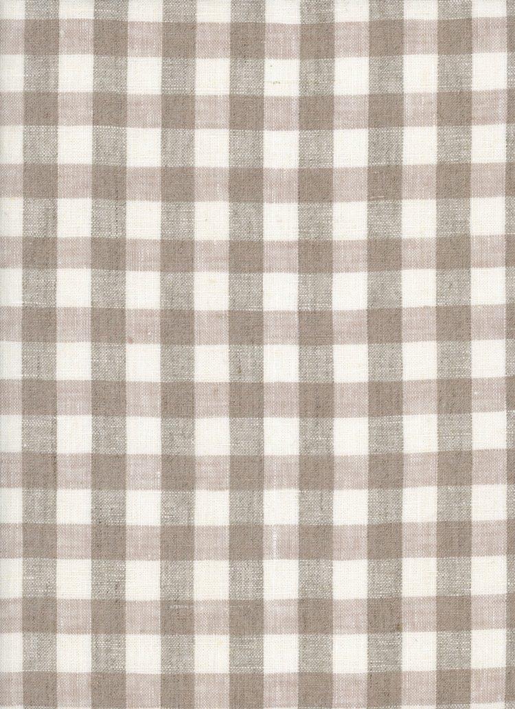 Gingham Linen - Natural