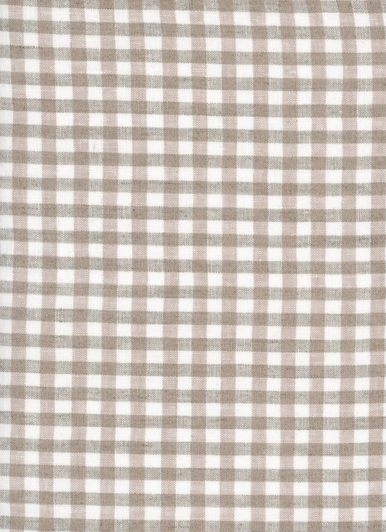 Gingham Linen - Natural - Small