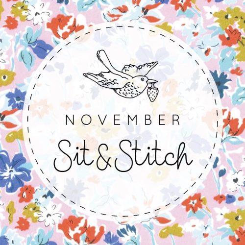 Sit & Stitch Ticket – 20th November